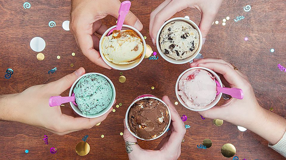 Baskin-Robbins ice cream in cups