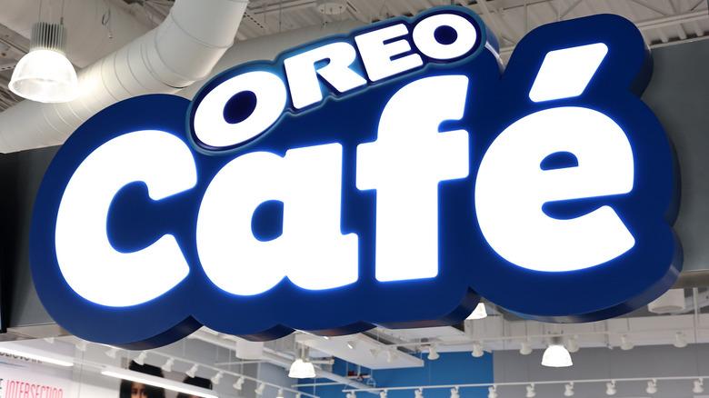Oreo Cafe sign