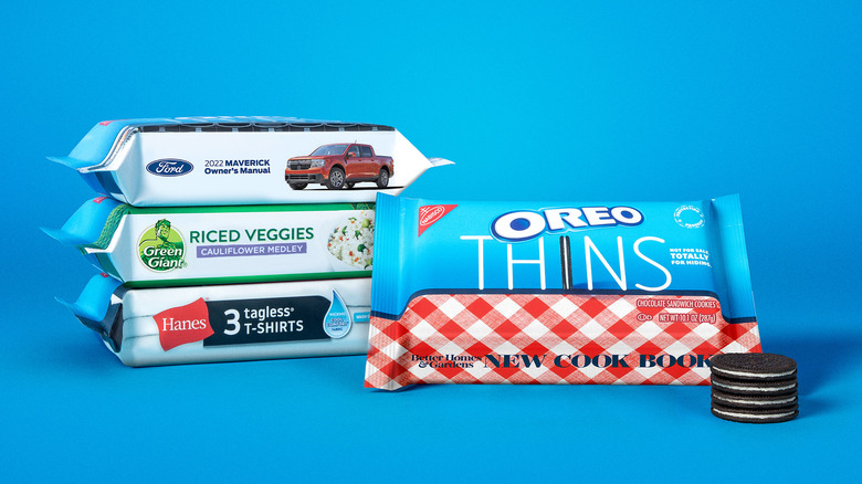 Packages of camouflaged Protection Program Oreo Thins