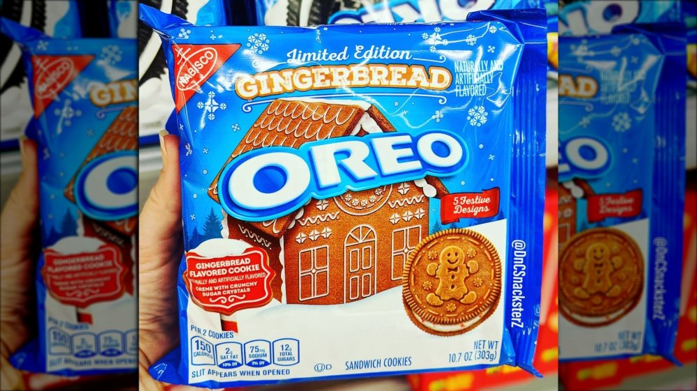 New and improved Gingerbread Oreos