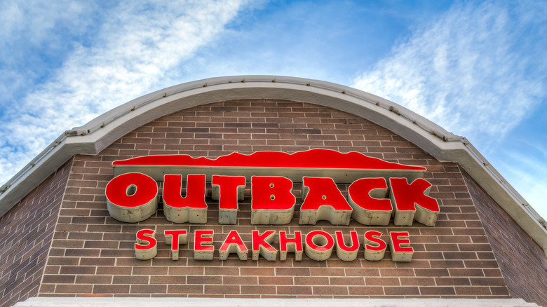 Outback steakhouse sign
