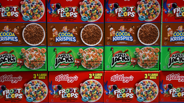 Boxes of cereals