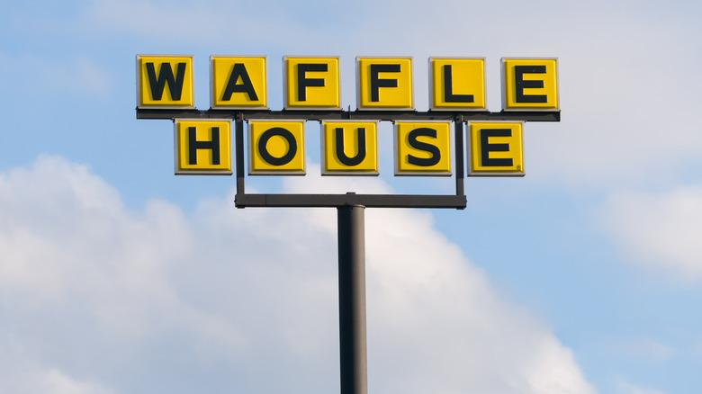 A Waffle House sign