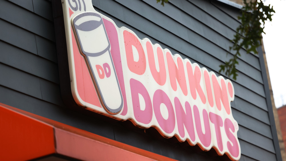 Dunkin' Donuts store sign