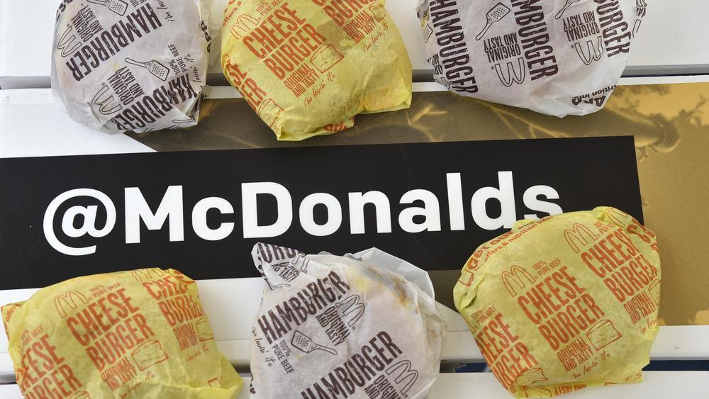 McDonald's hamburgers and cheeseburgers