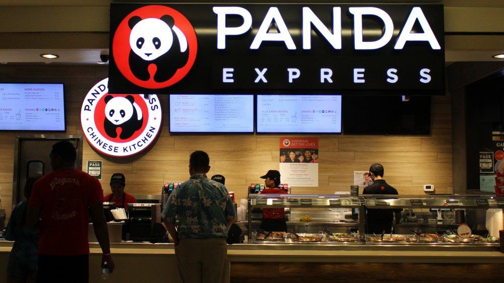 A mall food court Panda Express at the Ala Moana Center in Hawaii