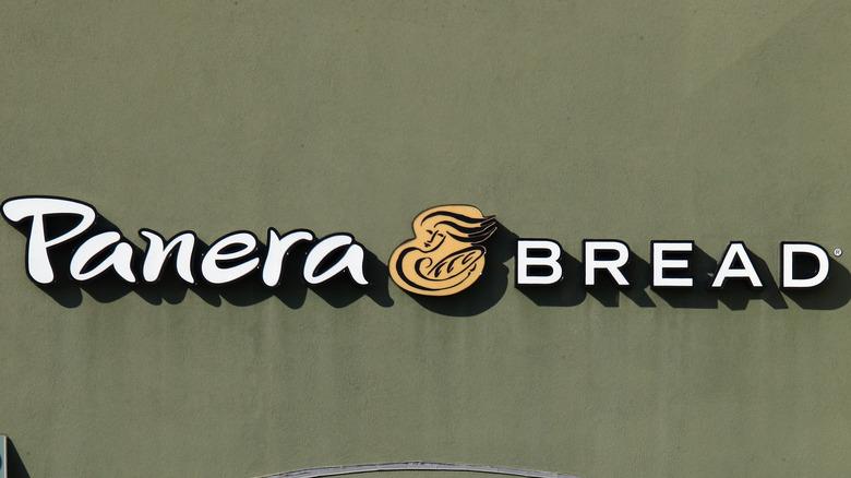 Panera Bread logo on storefront