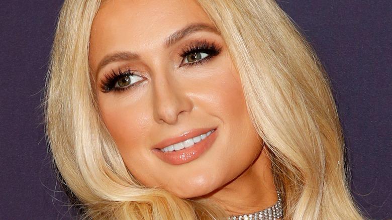 Paris Hilton posing