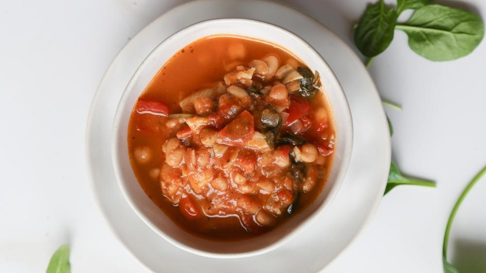 pot of Pasta E Fagioli