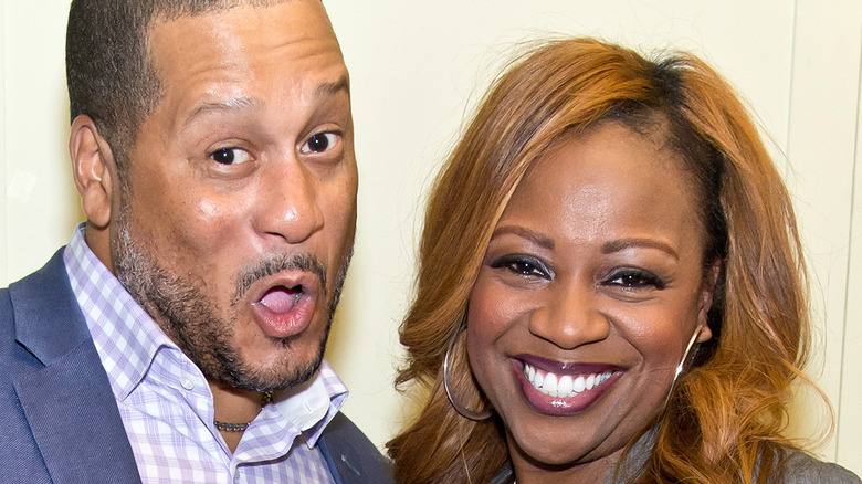 Pat Neely makes funny face as Gina smiles