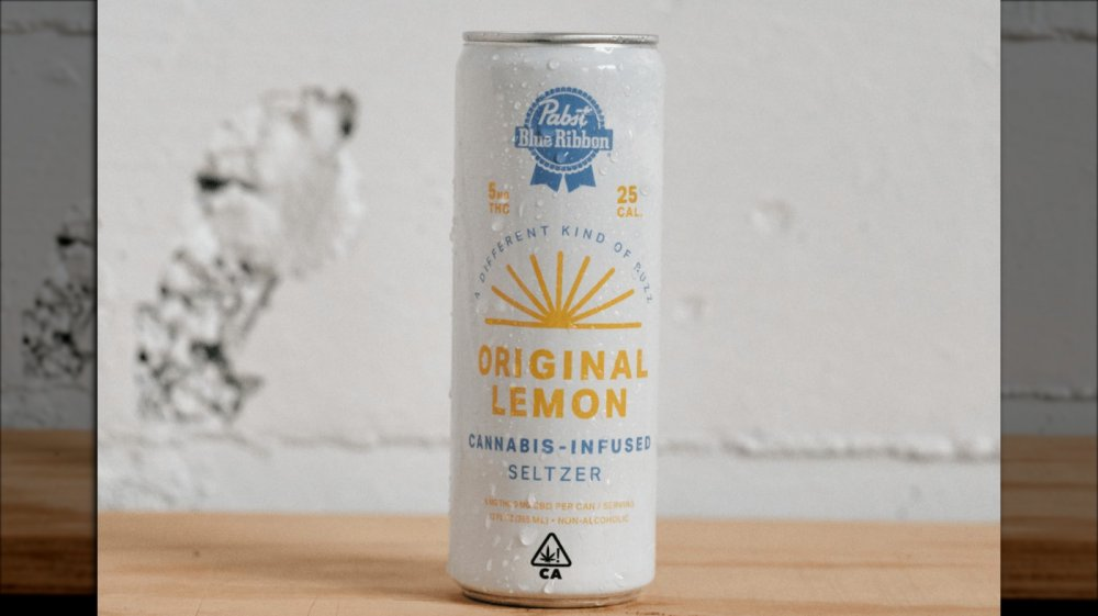 PBR cannabis seltzer in original lemon flavor
