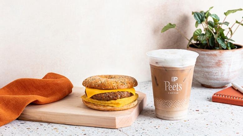 Peet's Coffee vegan breakfast