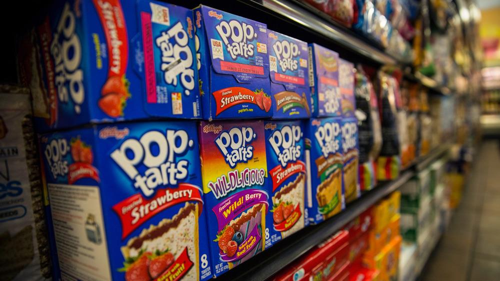 Boxes of Pop-Tarts on shelves