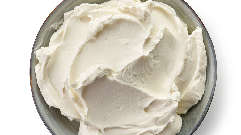 cream cheese in bowl