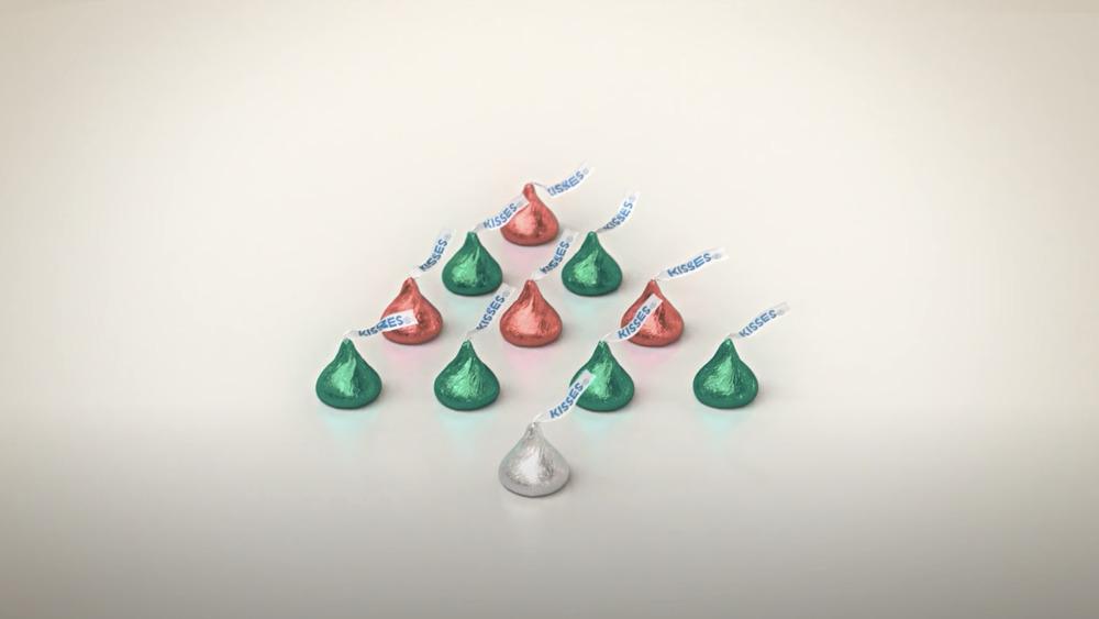Hershey's Kisses Christmas bells commercial
