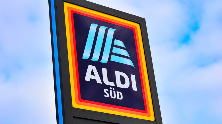 Aldi sign from German store