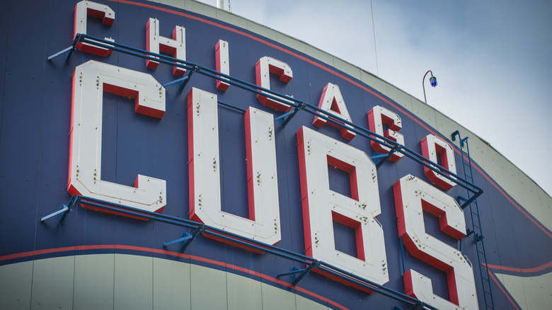 Outside of Chicago Cubs stadium