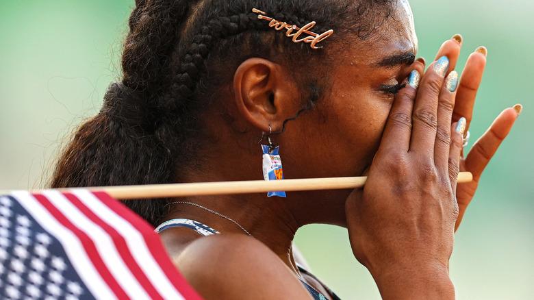 Christina Clemons with Doritos earrings