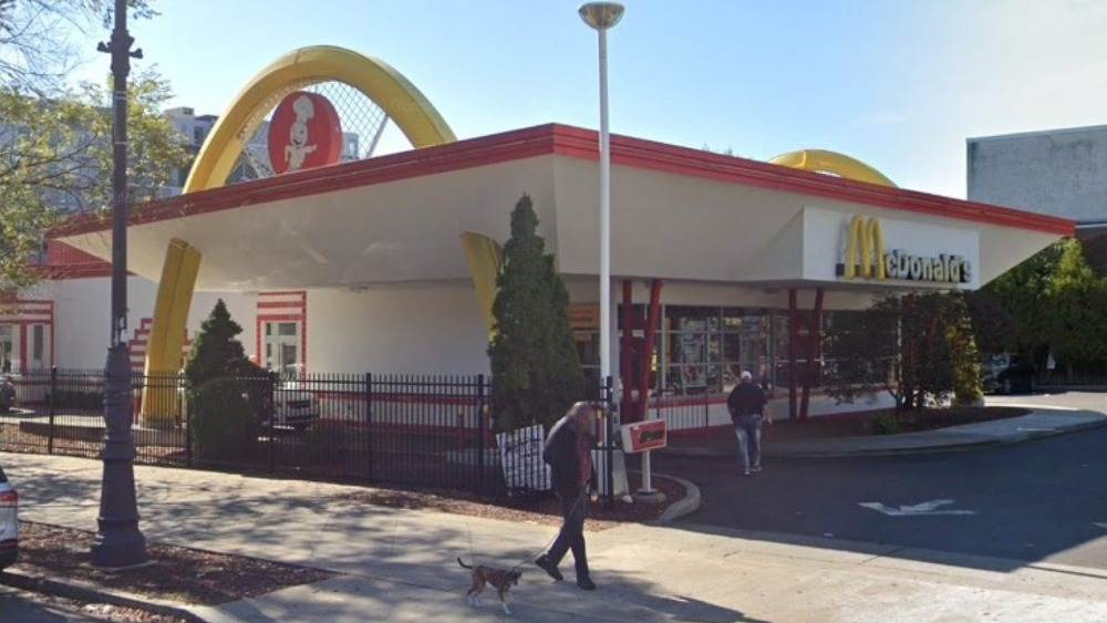 Outside the recently closed McDonald's