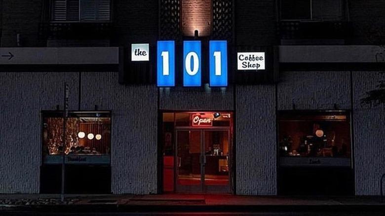 Exterior shot of 101 Coffee Shop