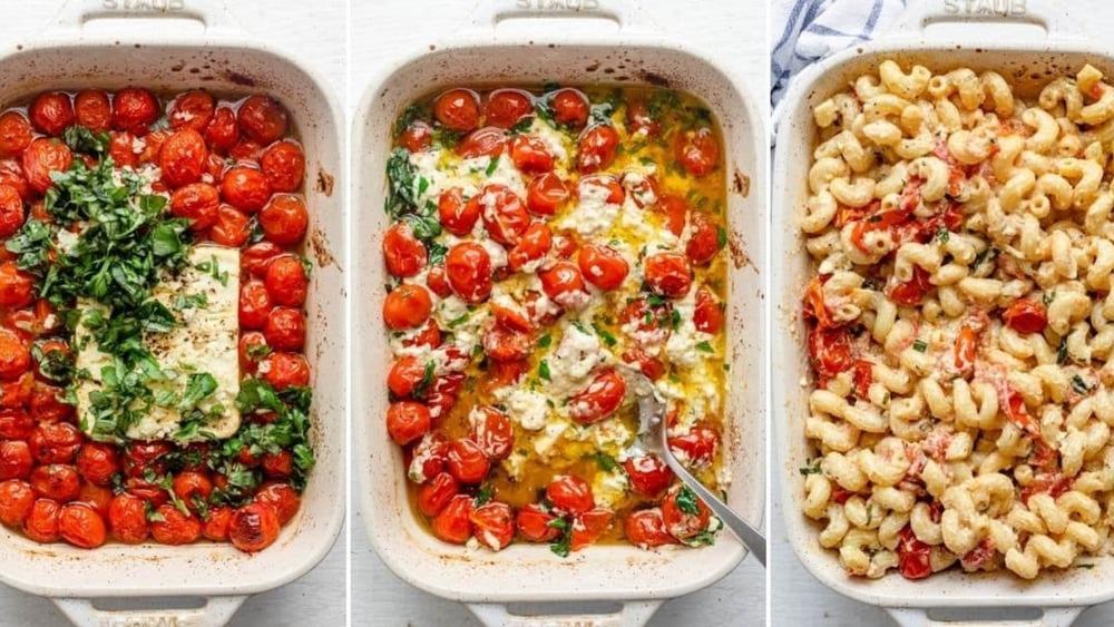 feta pasta three steps