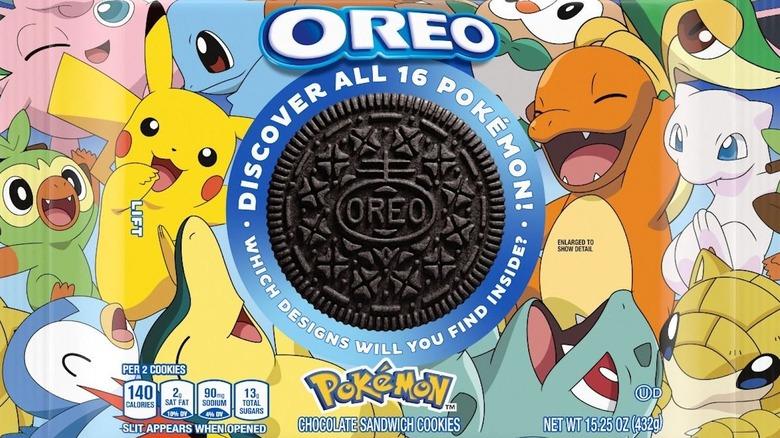 package of Pokemon x Oreo cookies