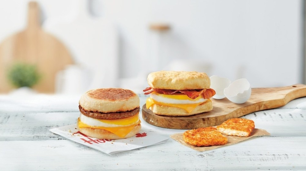 Tim Hortons' egg sandwiches