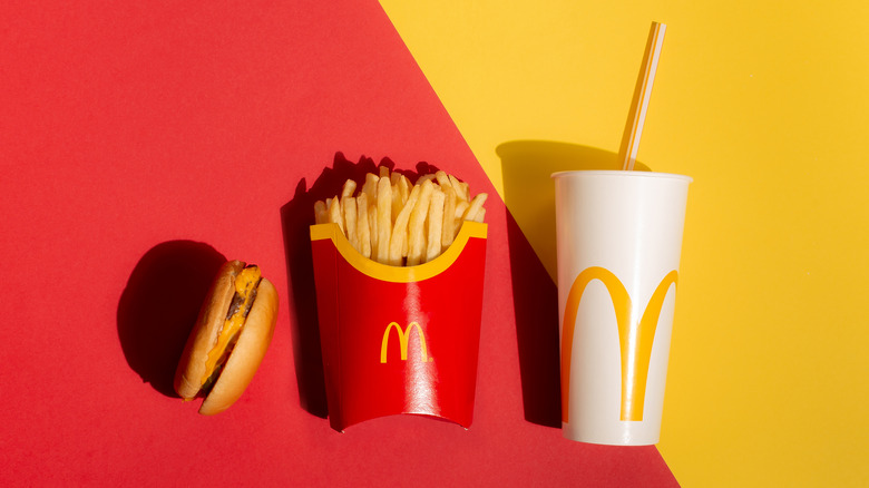 McDonald's fries, burger, and cup