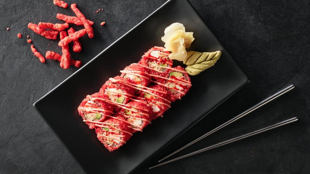 The Cheetos Flamin' Hot Roll Hissho Sushi