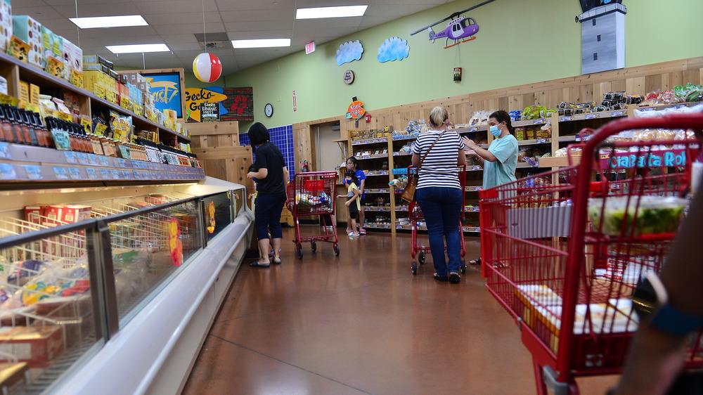Frozen aisle in Trader Joe's