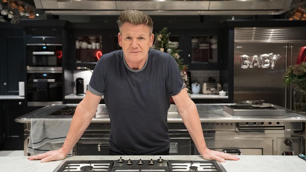 Gordon Ramsay in his London kitchen