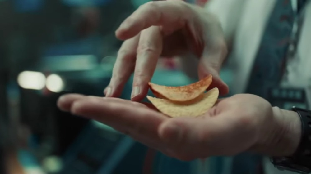 Stacking Pringles Super Bowl ad