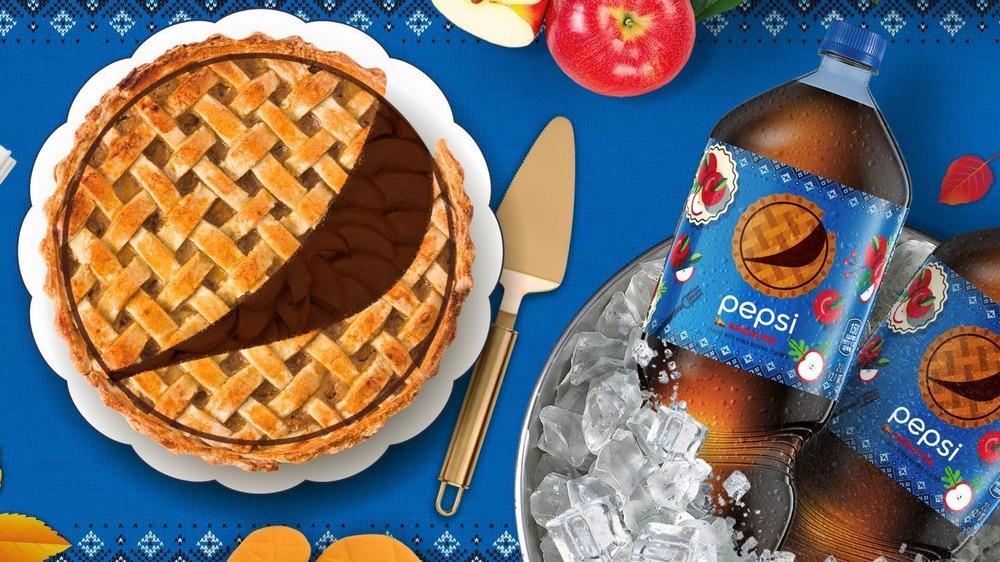 Ad for Pepsi's new Apple Pie soda
