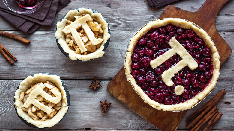 Pi on top of a pie