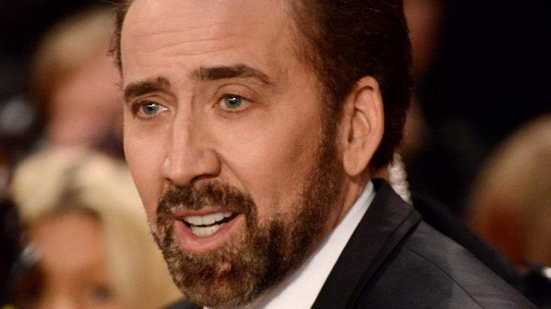 Nicolas Cage with beard
