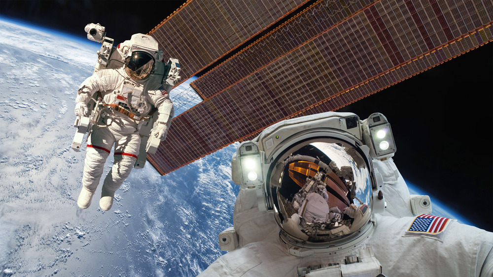 International Space Station and astronauts