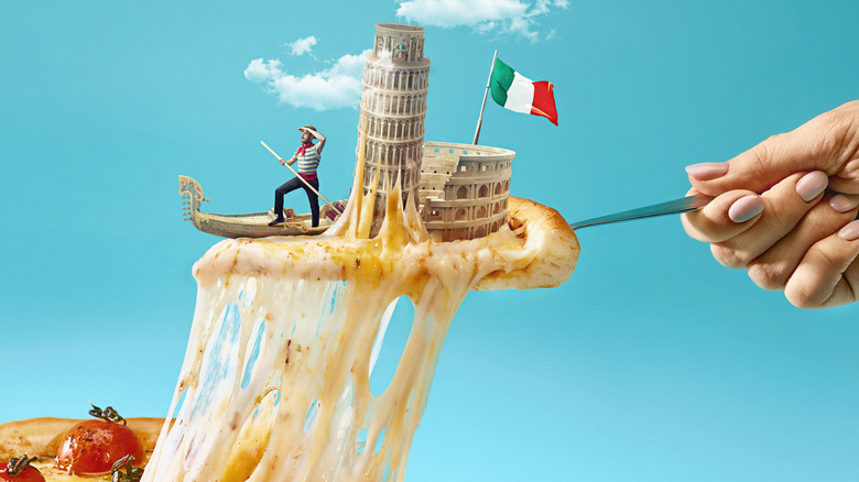 pizza italian collage