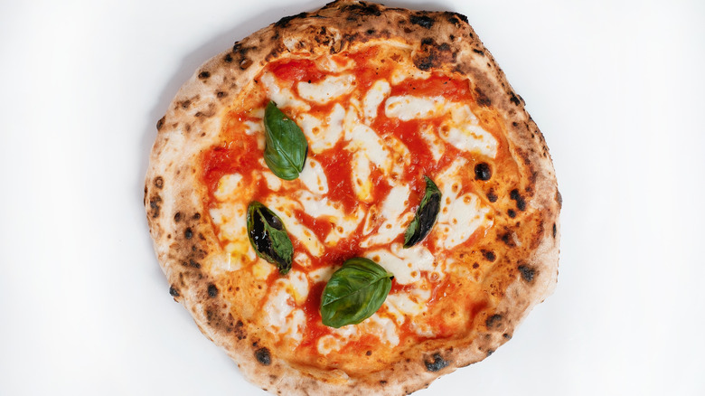 Small pizza with garnish