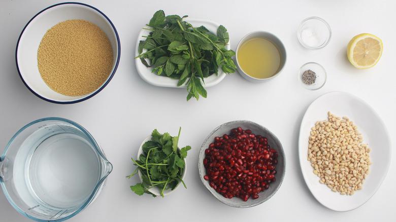 pomegranate couscous salad ingredients