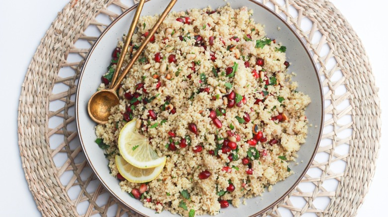 pomegranate couscous salad from above