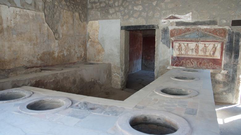 An old restaurant in Pompeii