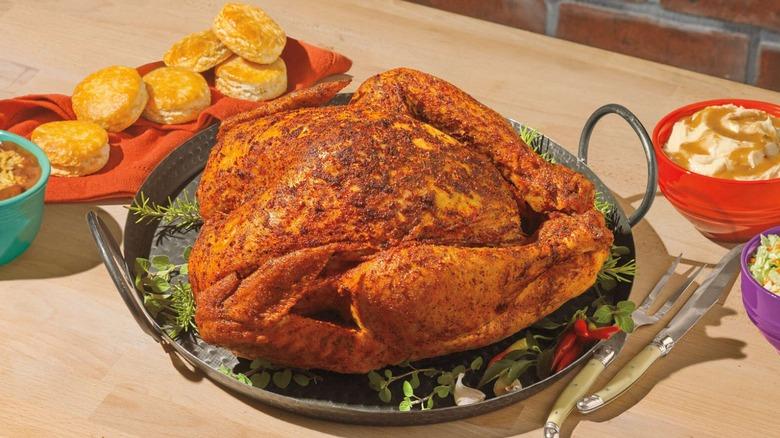 A Popeyes cajun turkey meal
