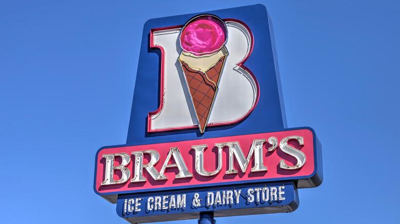 braum's ice cream sign