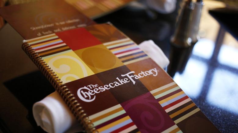 Cheesecake Factory's massive menu.