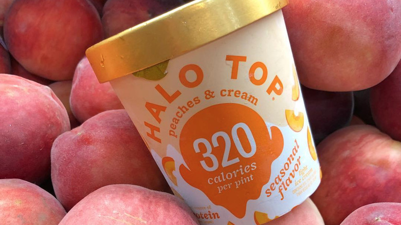 Peaches & Cream Halo Top pint.