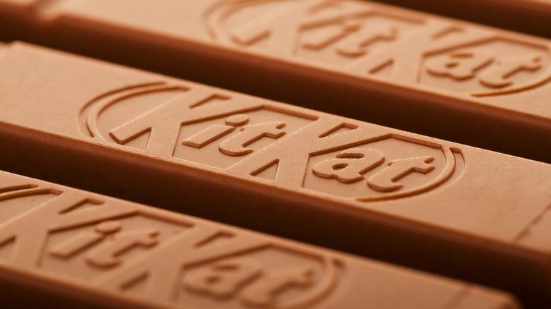 Close up of a Kit Kat bar