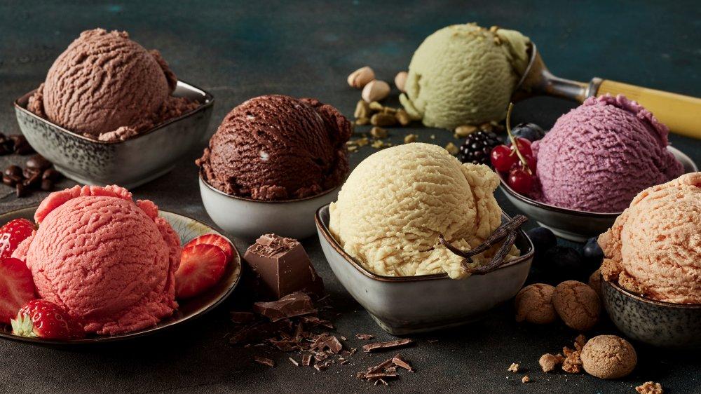 Popular low-calorie ice creams