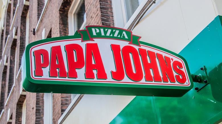 Papa John's sign