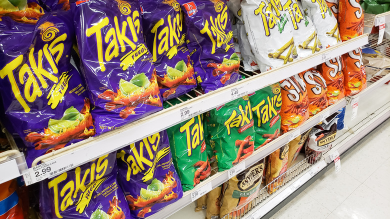 rows of Takis
