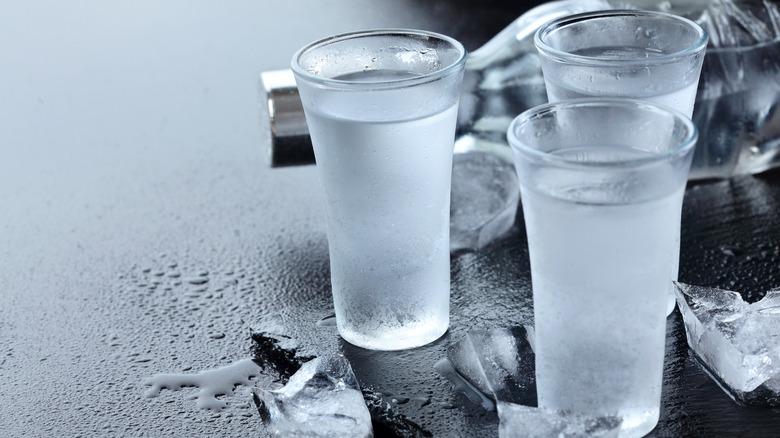 vodka shots ice